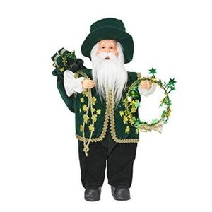 "Living Quarters 12"" Irish Santa Figurine"